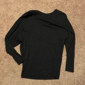 Express black oversized boatneck sweater